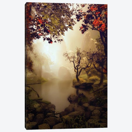 Rocks Around Pond Canvas Print #AEZ48} by Angel Estevez Canvas Print