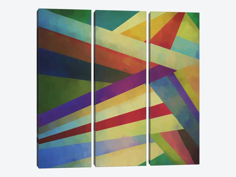 Transversal II by Angel Estevez 3-piece Canvas Art