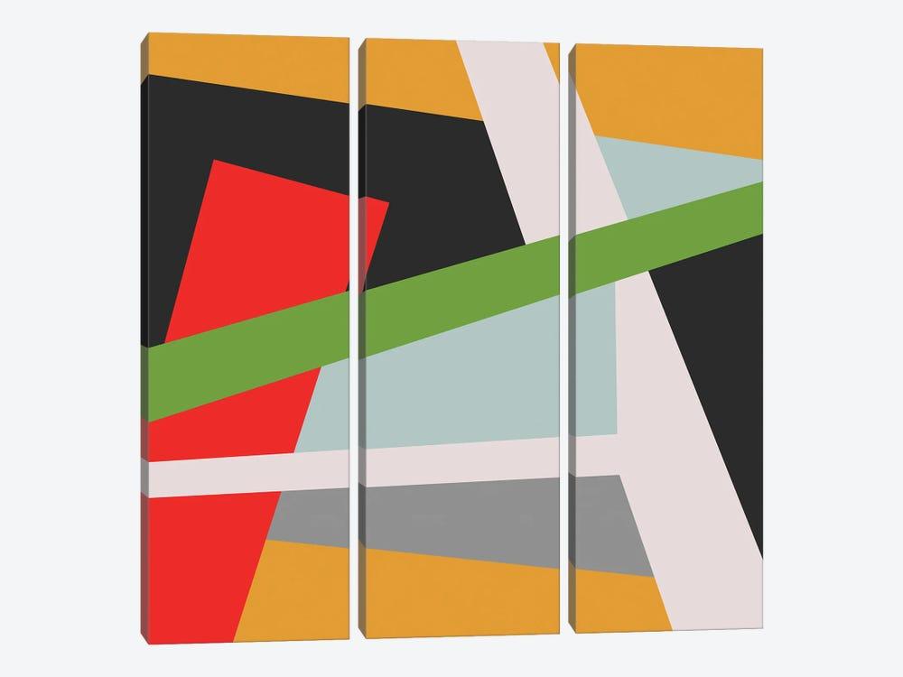 Transversal III by Angel Estevez 3-piece Canvas Art Print