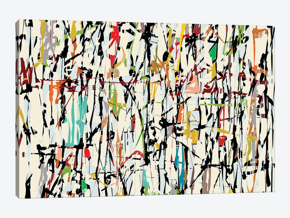Pollock Wink V by Angel Estevez 1-piece Canvas Wall Art