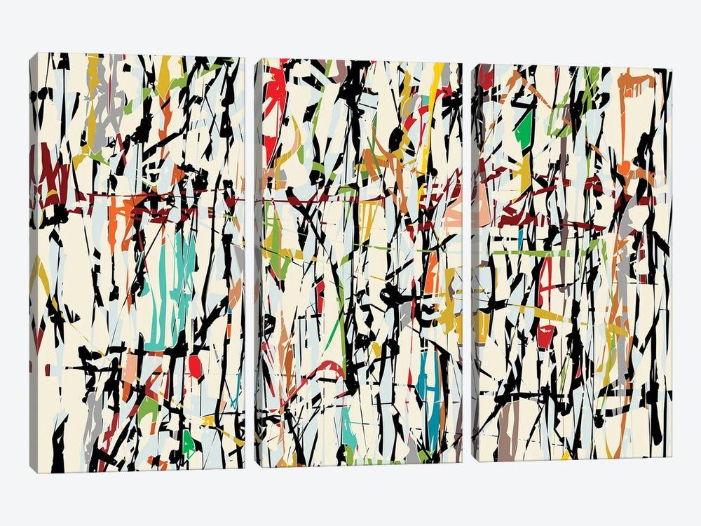 Pollock Wink V by Angel Estevez 3-piece Canvas Wall Art