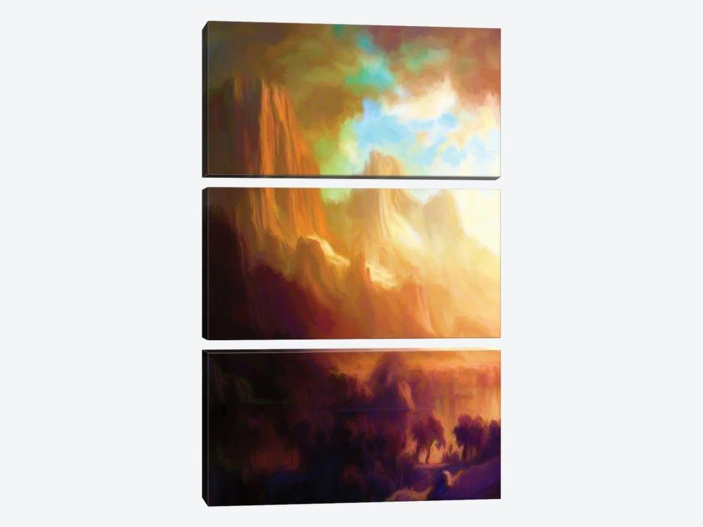 Romantic Landscape by Angel Estevez 3-piece Canvas Wall Art
