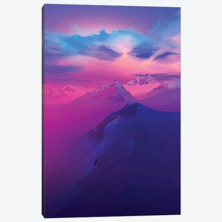 Sunset In The Mountains I Canvas Print #AEZ52} by Angel Estevez Canvas Art