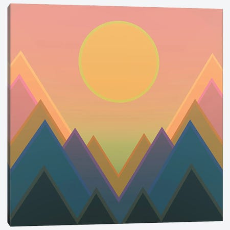 Sunset In The Mountains II Canvas Print #AEZ53} by Angel Estevez Canvas Wall Art