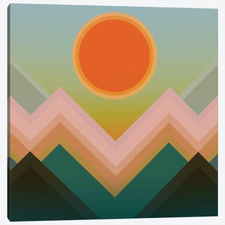 Sunset In The Mountains III Canvas Print #AEZ54} by Angel Estevez Canvas Print