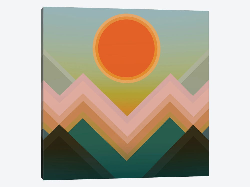 Sunset In The Mountains III by Angel Estevez 1-piece Canvas Wall Art