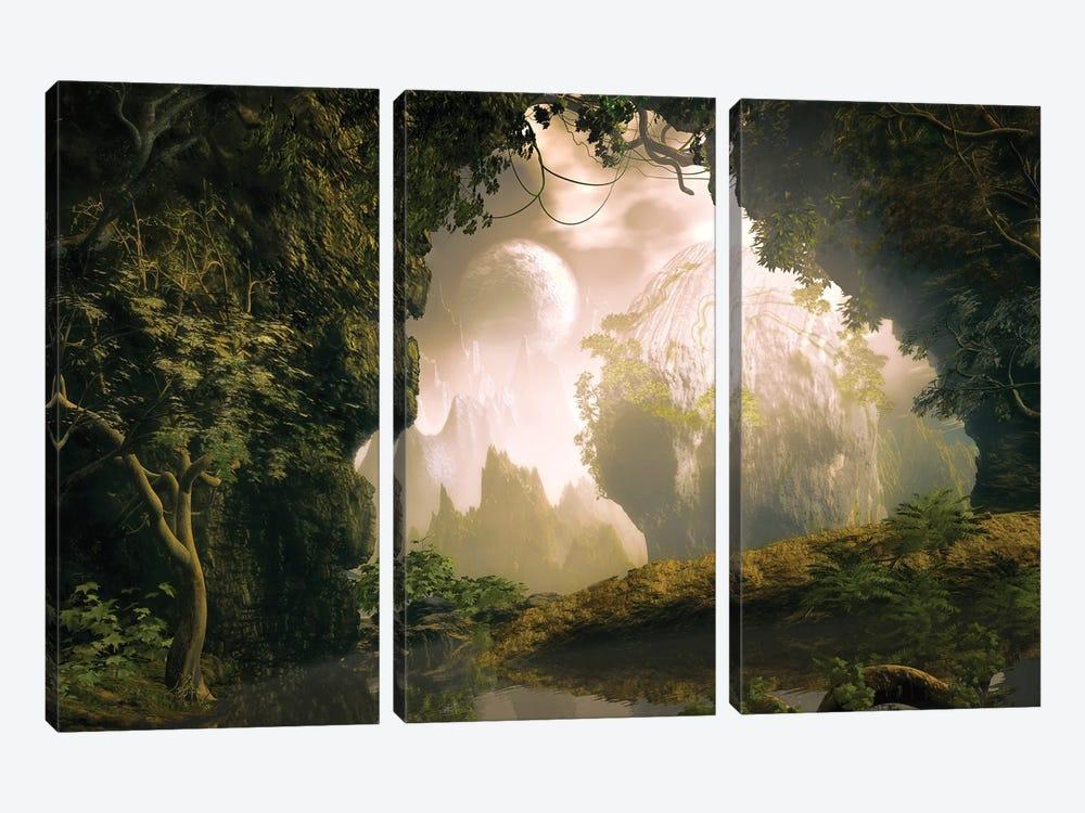 Sweet Strange Place by Angel Estevez 3-piece Canvas Art