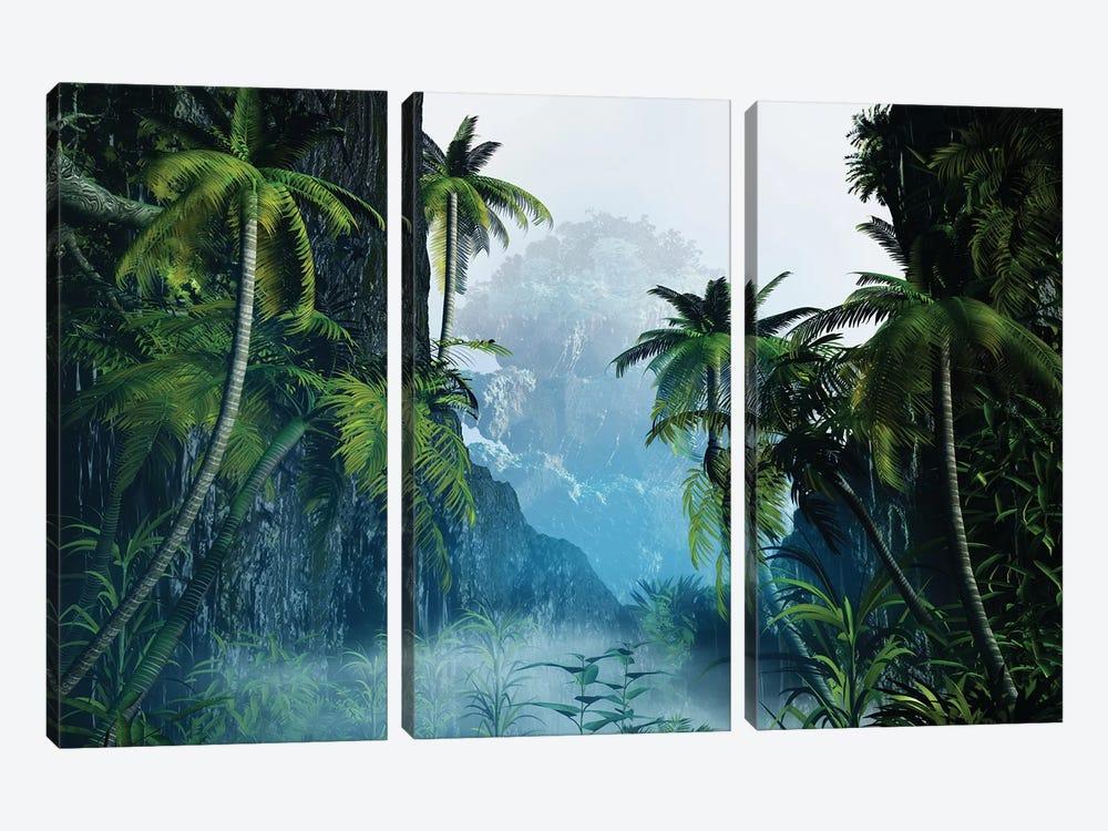 Tropical Landscape I by Angel Estevez 3-piece Canvas Art