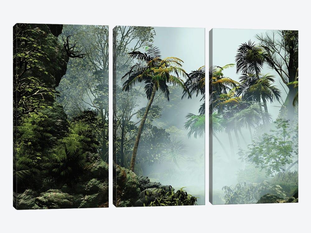 Tropical Scenery I by Angel Estevez 3-piece Canvas Art