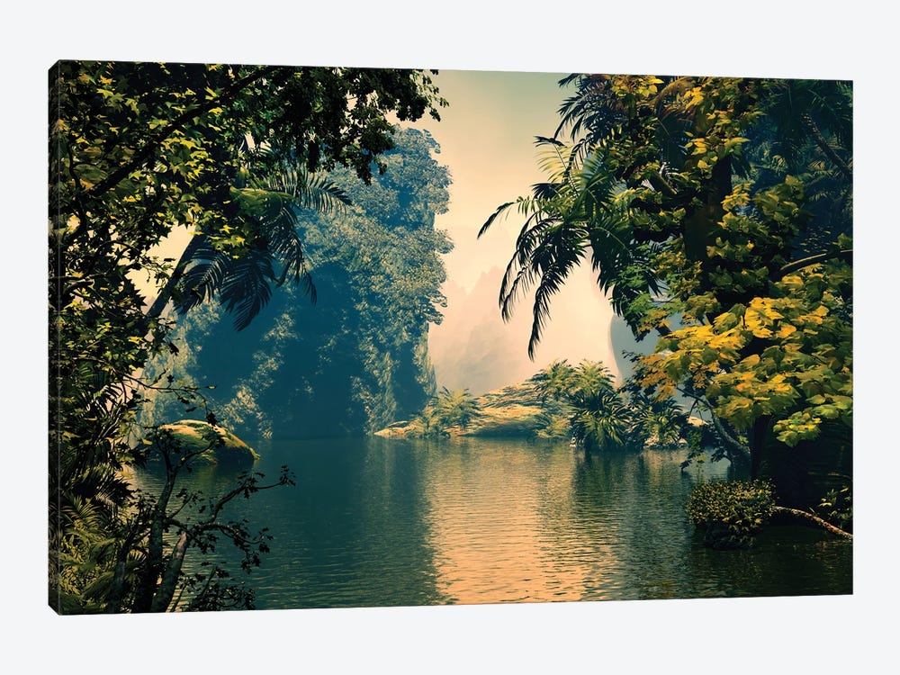 Tropical Scenery III by Angel Estevez 1-piece Canvas Artwork