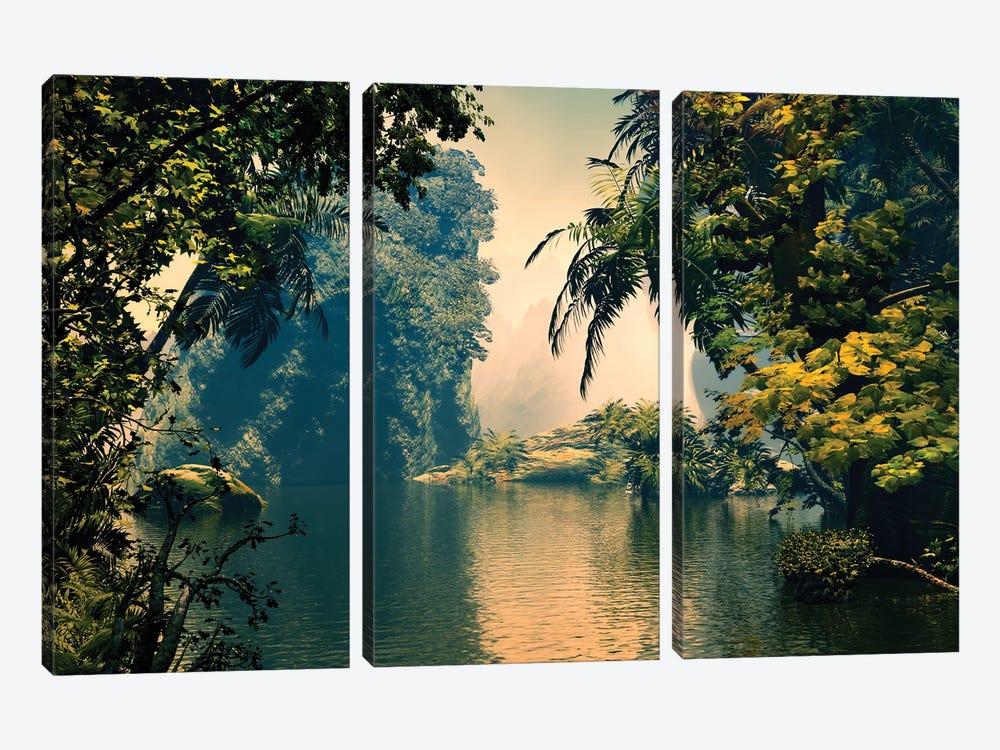 Tropical Scenery III by Angel Estevez 3-piece Canvas Artwork