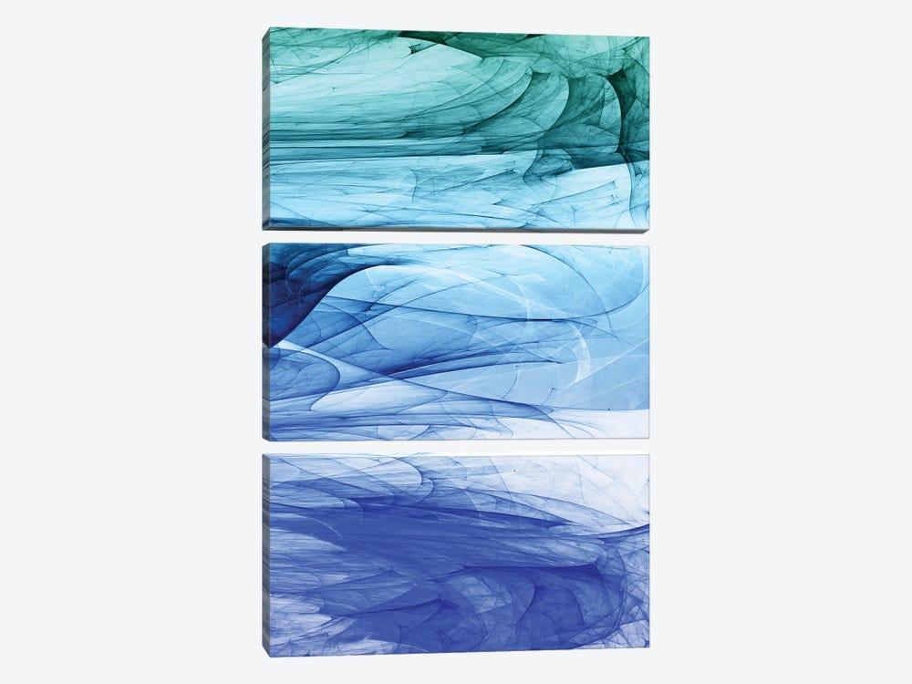 Colors Of The Sea by Angel Estevez 3-piece Canvas Art Print
