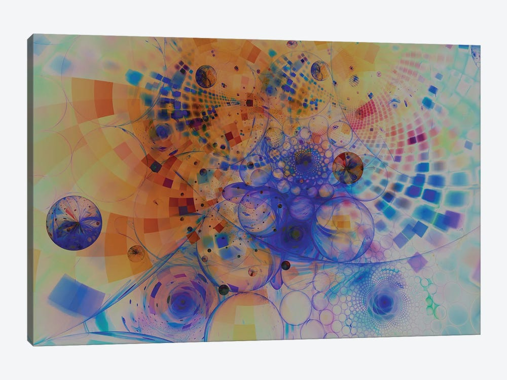 Moving Spirals by Angel Estevez 1-piece Canvas Artwork