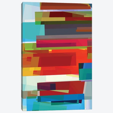 Colored Rectangles Canvas Print #AEZ70} by Angel Estevez Canvas Artwork