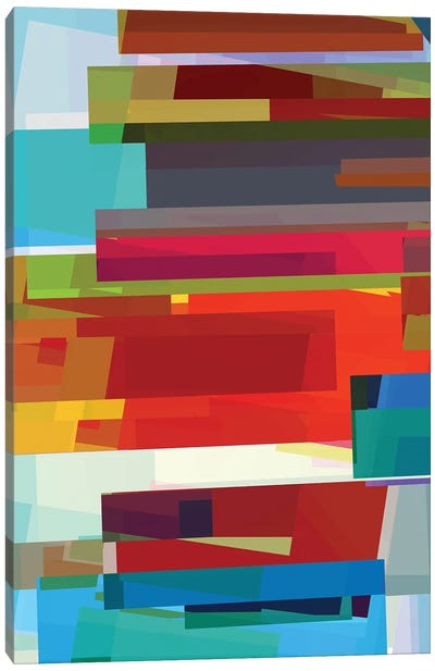 Colored Rectangles Canvas Art Print