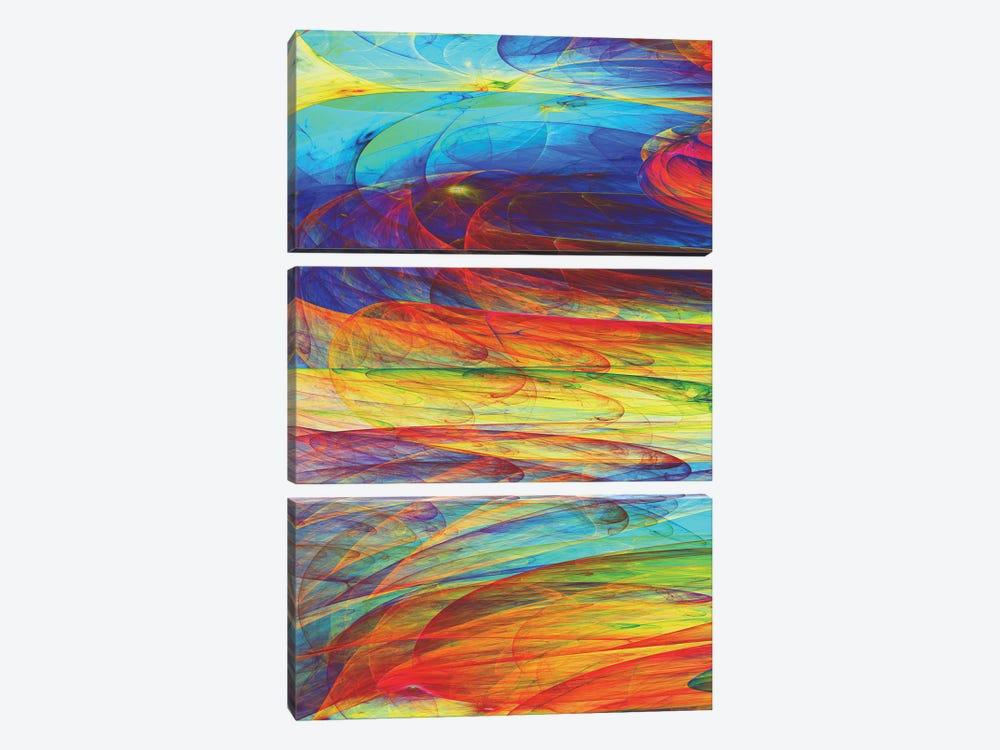 Ink Fluid by Angel Estevez 3-piece Art Print
