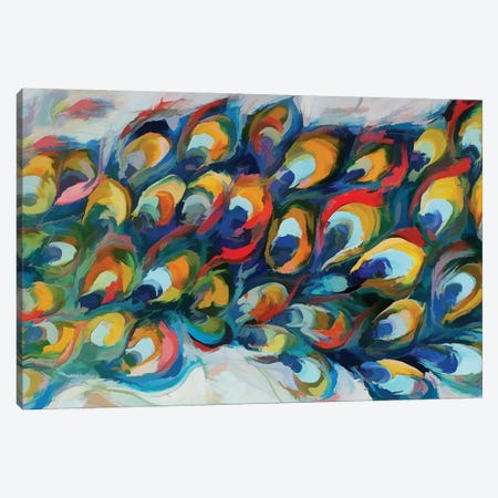 Peacock Tail Canvas Print #AEZ73} by Angel Estevez Canvas Art