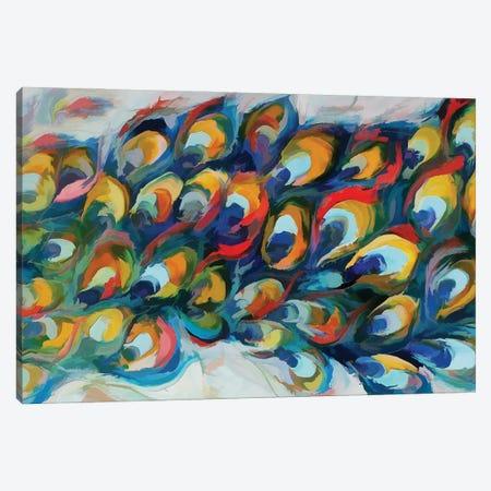 Peacock Tail Canvas Print #AEZ73} by Angel Estevez Canvas Art