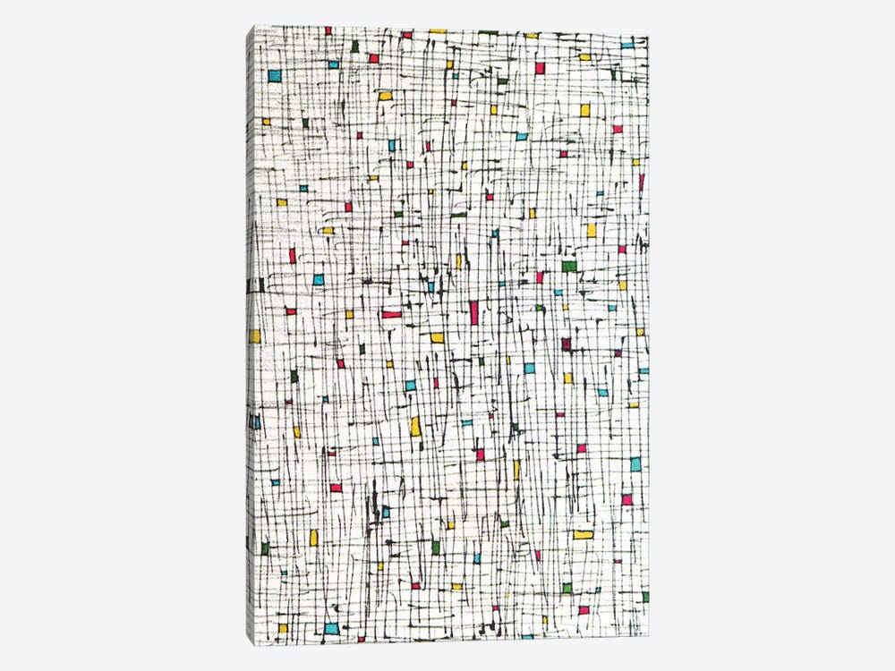 Tiny Rectangles And Squares by Angel Estevez 1-piece Canvas Artwork