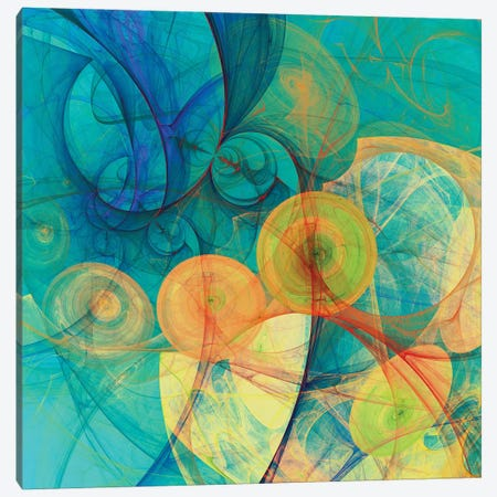 Moving Circles Canvas Print #AEZ75} by Angel Estevez Art Print