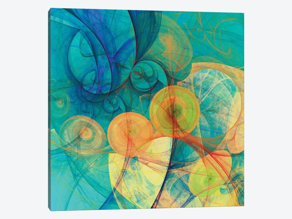 Moving Circles by Angel Estevez 1-piece Canvas Art Print
