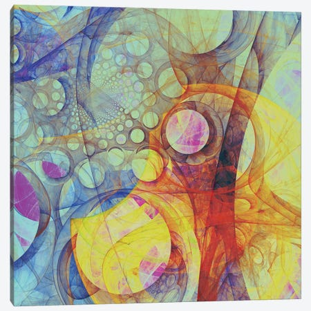 Moving Circles II Canvas Print #AEZ76} by Angel Estevez Canvas Art Print