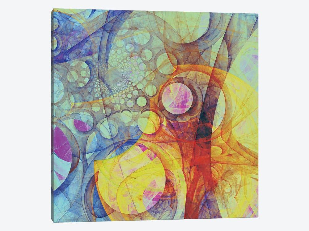 Moving Circles II by Angel Estevez 1-piece Canvas Artwork