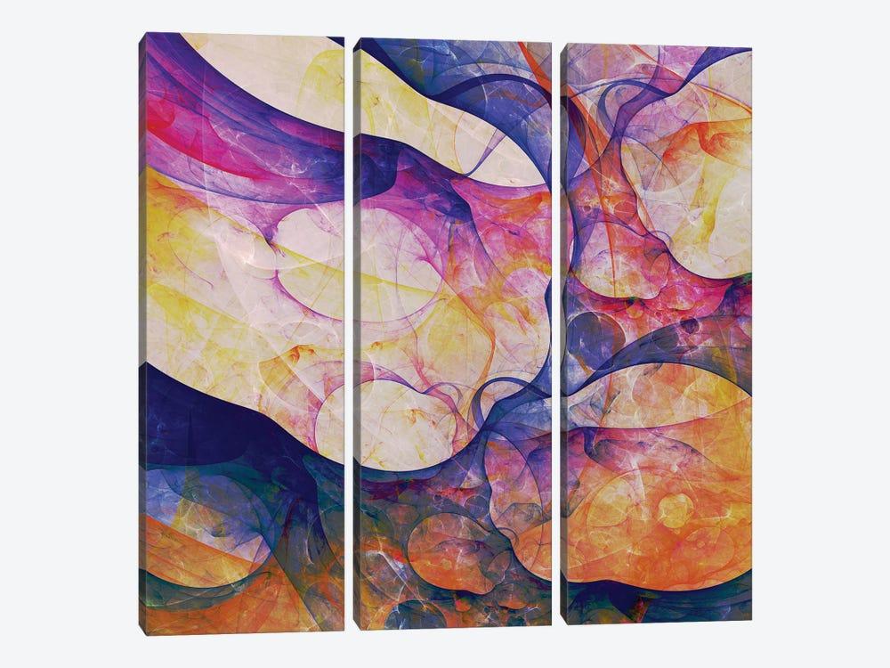 Corals Shapes by Angel Estevez 3-piece Art Print