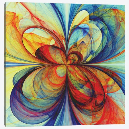 Multicolored Butterfly Canvas Print #AEZ79} by Angel Estevez Canvas Art