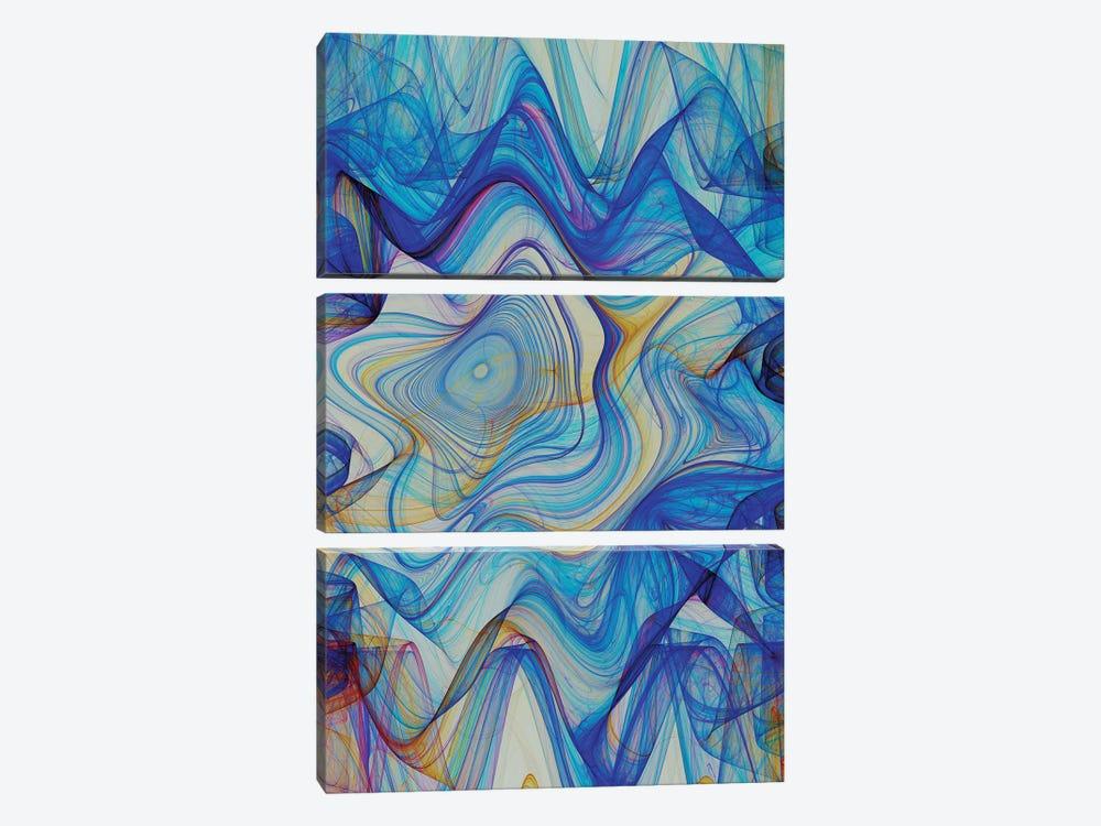 Hypnotic Blue by Angel Estevez 3-piece Canvas Art Print