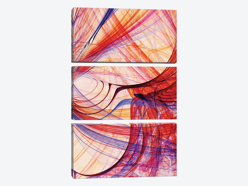 Interlaced Lines by Angel Estevez 3-piece Canvas Wall Art