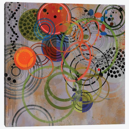 Circles On Circles Canvas Print #AEZ86} by Angel Estevez Canvas Art