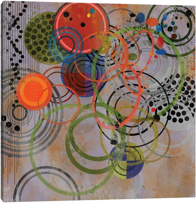Circles On Circles Canvas Art Print