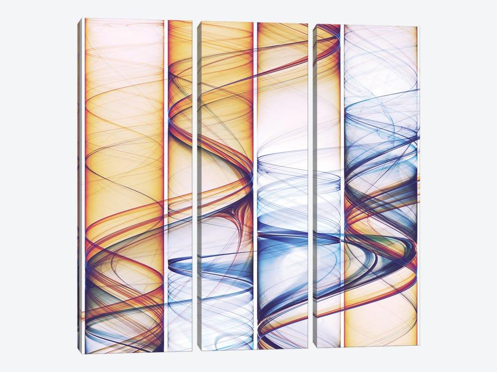Winding Lines by Angel Estevez 3-piece Canvas Art Print