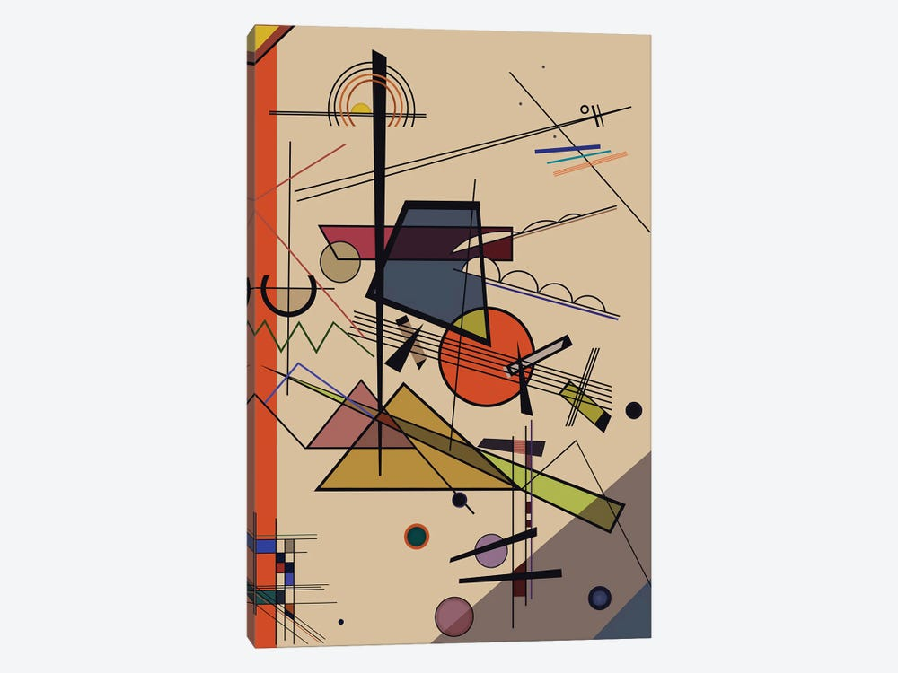 Homage To Kandinsky by Angel Estevez 1-piece Canvas Art