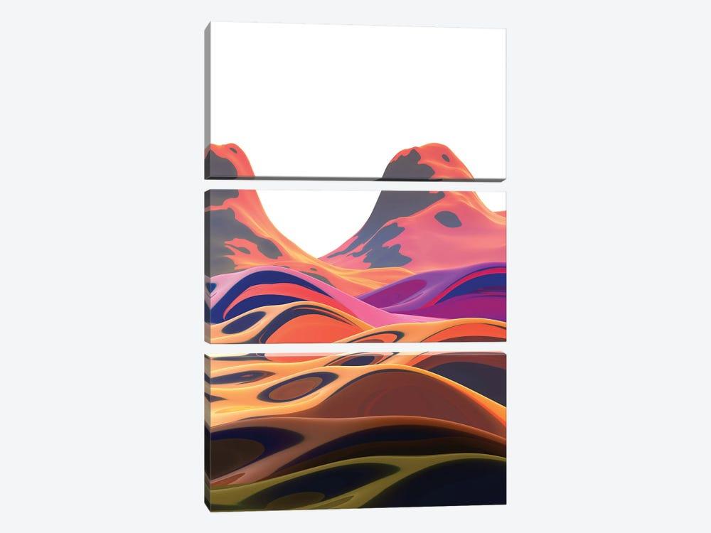 Beautiful Mountains I by Angel Estevez 3-piece Canvas Art
