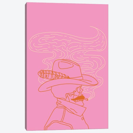 Love or Die Tryin' Cowhand in Pink Canvas Print #AFC17} by Allie Falcon Canvas Art
