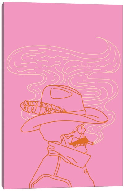 Love or Die Tryin' Cowhand in Pink Canvas Art Print