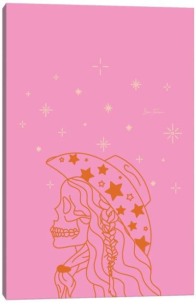 Love or Die Tryin' Rhinestone Cowgirl in Pink Canvas Art Print