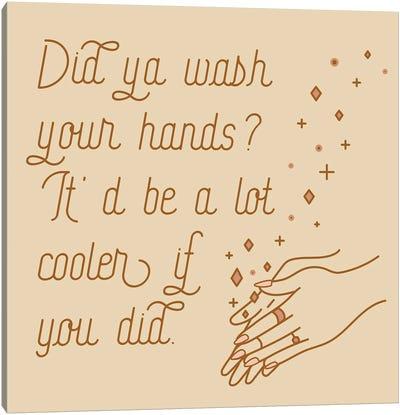 Wash Your Hands Mauve Canvas Art Print