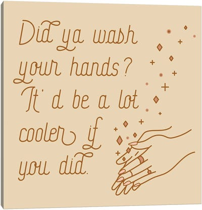 Wash Your Hands Mauve Canvas Art Print