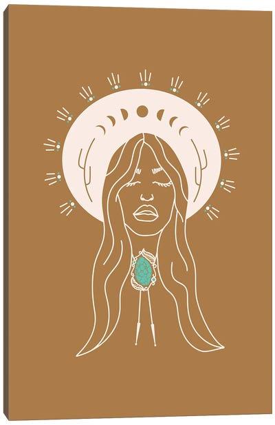 Desert Angel in Camel & Turquoise Canvas Art Print