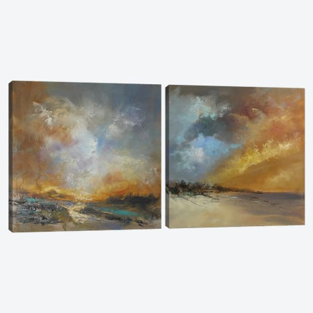 Golden Diptych Canvas Print Set #AFD2HSET001} by Anne Farrall Doyle Canvas Artwork