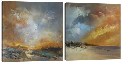Golden Diptych Canvas Art Print