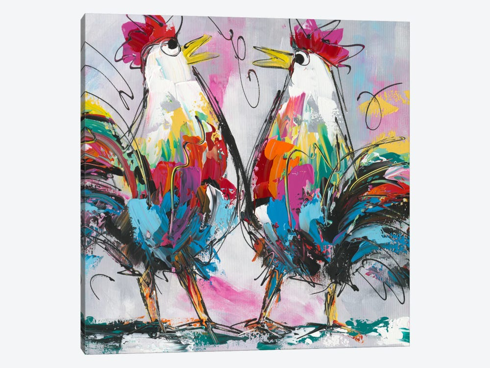 Lets talk about chicken by art fiore 1 piece art print