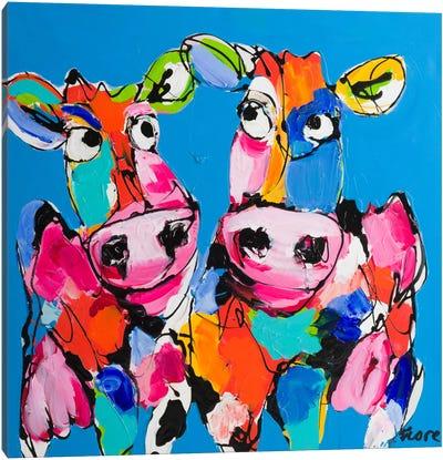 Colourful Art Cows Canvas Art Print