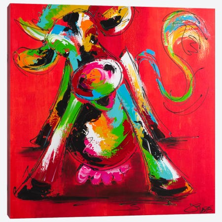 Disco Cow I Canvas Print #AFI5} by Art Fiore Canvas Wall Art
