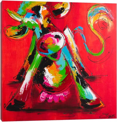 Disco Cow I Canvas Art Print