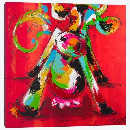 Disco Cow II Canvas Print #AFI6} by Art Fiore Canvas Wall Art