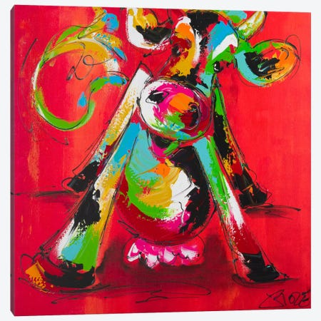 Disco Cow II Canvas Print #AFI6} by Art Fiore Canvas Wall Art